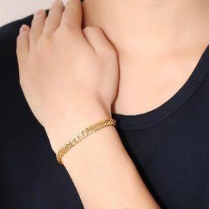 Other - 18K gold plated unisex Cuban bracelet